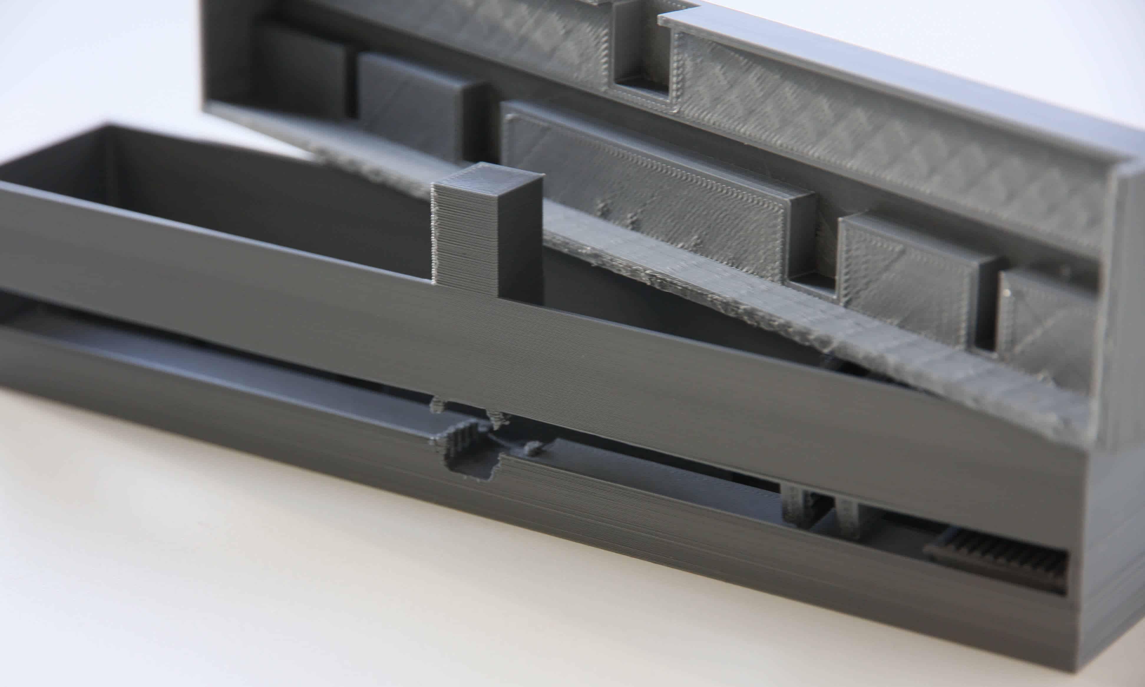 3D gedruckte Bauteile