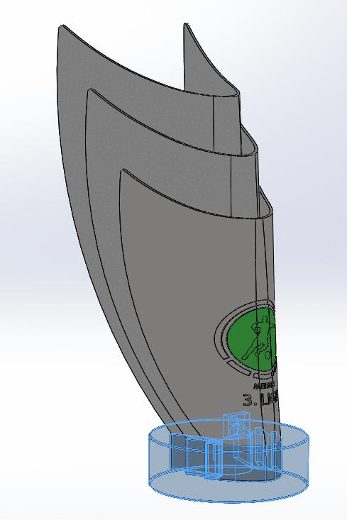3D Modell des Pokals